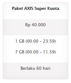 Daftar Axis 8GB